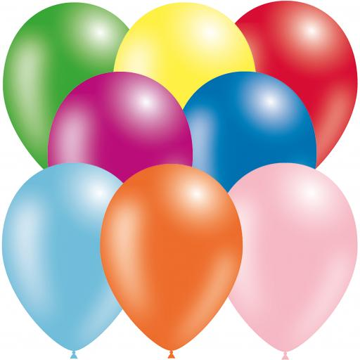 Latex Balloons - Assorted - Pack of 50